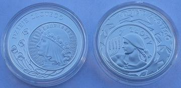 2 серебряные монеты 10 злотых из Истории Золотой серии