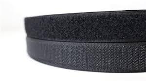Черная липучка 4 см петля + крючок 50 метров