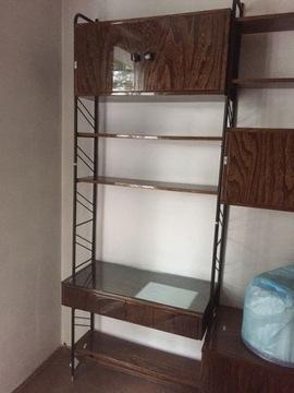 Винтажный модульный книжный шкаф из Польской Народной Республики