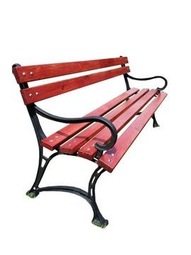 Королевская чугунная садовая парковая скамейка