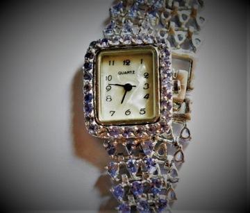 Сертифицированные часы с натуральным танзанитом