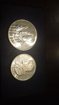 Серебряные монеты с папой