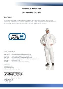 50шт Защитный костюм KatIII 5B + 6B 2XL EN14126