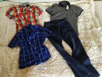 Mega paka męskie spodnie koszule M