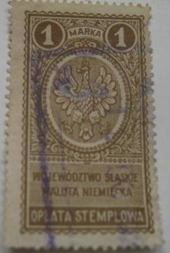 Гербовый сбор 1 марка Сленское воеводство валюта Германии