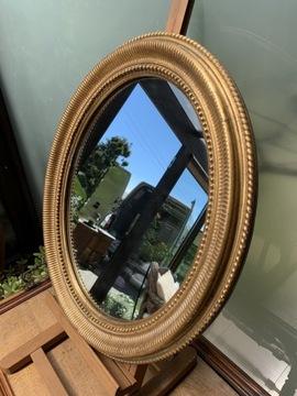 Золотое декорированное овальное винтажное зеркало