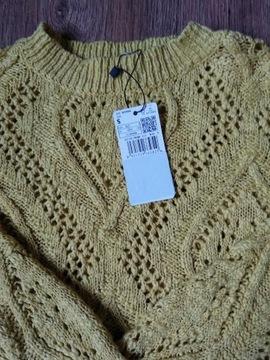 Sweter Mango w rozmiarze 36 bawełniany ażurkowy