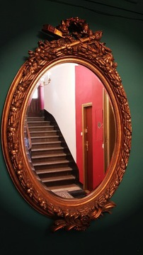 Антикварное зеркало в декорированной раме, высота 160 см!