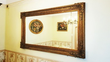 Антикварное зеркало в декорированной раме 211 см х 119 см!