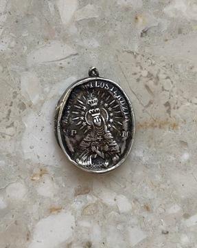 Реликварий Богоматери Врат Зари, 19 век, Серебро 84