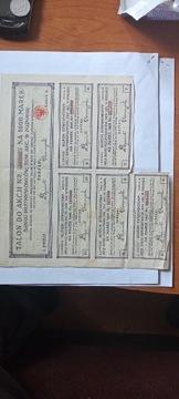 Купон на 1000 марок 1924 года