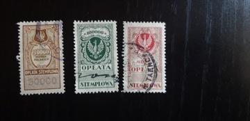 марки, гербовый сбор, крупные купюры, изд. МК