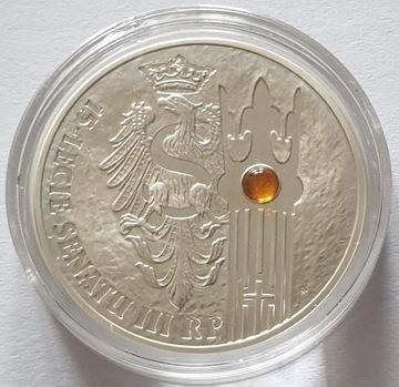 серебряная монета 20 злотых - 2004 г. - 15 лет Сенату