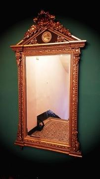 Антикварное зеркало в декорированной раме, высота 206 см!