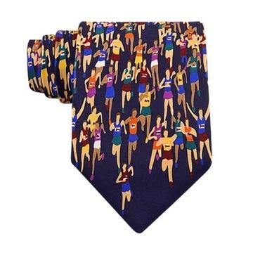 Prezent dla biegacza - krawat maraton. Oryginalny