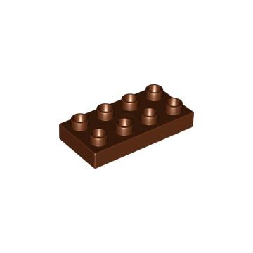 Lego Duplo Klocek 2x2x1 Brązowy NOWY! 4251777