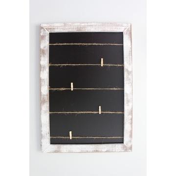 Drewniana ramka na zdjęcia ze sznurkami 42x59,5 cm