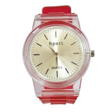Przezroczysty Zegarek Jelly 2kolorki NEW MODEL !