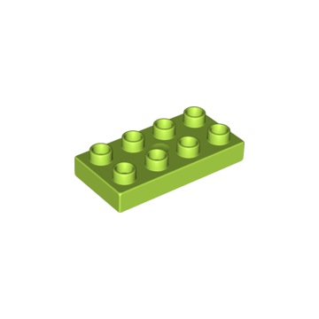 Lego Duplo Klocek 2x2x1 Zielony NOWY! 4185178
