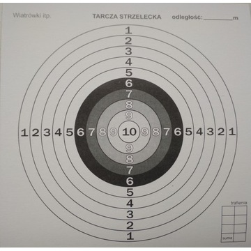 TARCZE STRZELECKIE TEKTUROWE 14x14 cm 100 sztuk