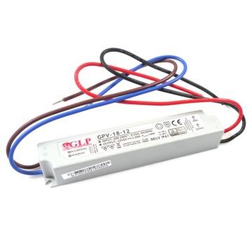 ZASILACZ HERMETYCZNY GPV-18-12 18W 1,5A 12V DO LED