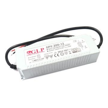 ZASILACZ HERMETYCZNY GPV-200-12 192W 16A 12V LED