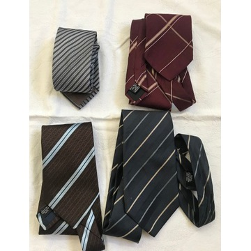 HUGO BOSS 3 krawaty + 1 selected