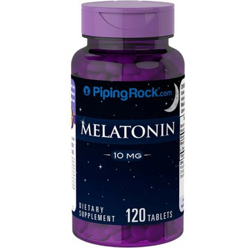 MELATONINA 10mg L-TEANINA 120tab Piping Rock