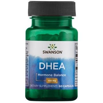 DHEA 100 mg 60 kapsułek SWANSON Młodość Zdrowie!