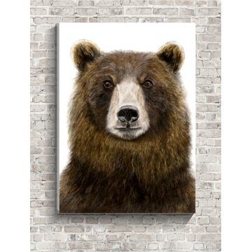 Obraz na płótnie 40x30cm NIEDŹWIEDŹ miś las canvas