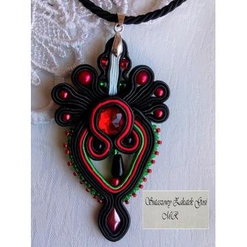 Wisiorek folk stylizowany folklorem góralskim