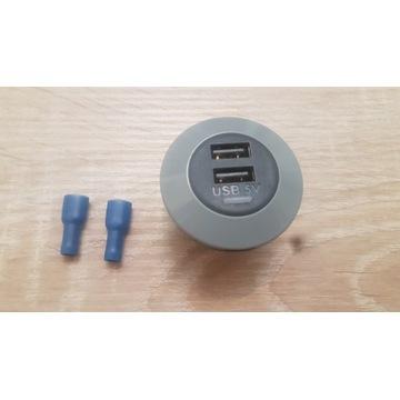 Gniazdo montażowe USB x2