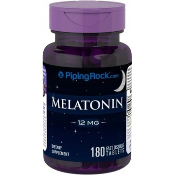 MELATONINA 12 mg 180tab Piping Rock USA !