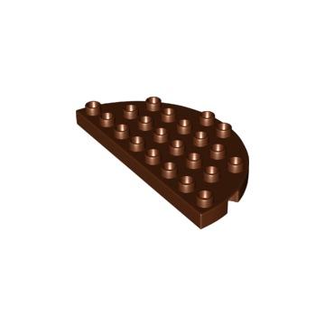 Lego Duplo Półokrągły Brązowy NOWY! 6214593