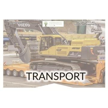 Transport maszyn, uczciwe stawki.Tel: 577.011.156.