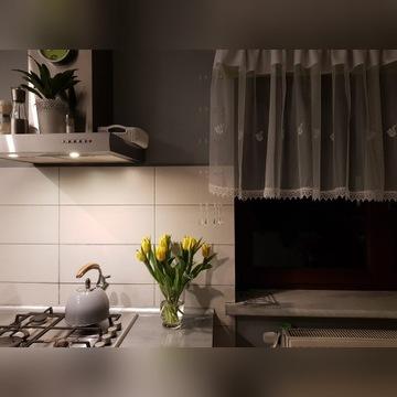 Piękna firanka kuchnia haft batyst koronka