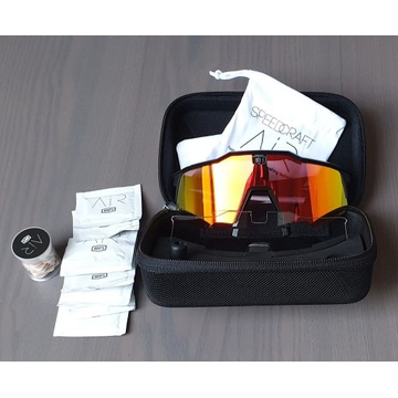 100% Speedcraft Air Okulary, soft tact black