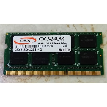 Pamięć ram 4GB DDR3 1333Mhz-10600 Laptop