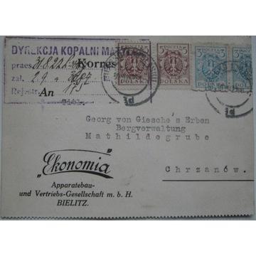 Bielsko Biała Ekonomia Maszyny budowlane 1922 r