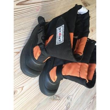 Zimowe buty Stonz TREK - Orange Black 19cm wkładka