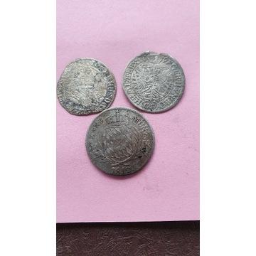 Zestaw starych srebrnych monet.