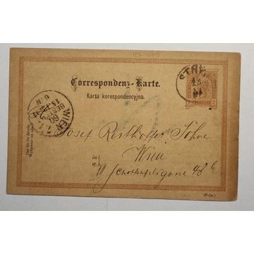 CP 10 typIII Karta Korespondencyjna 1891