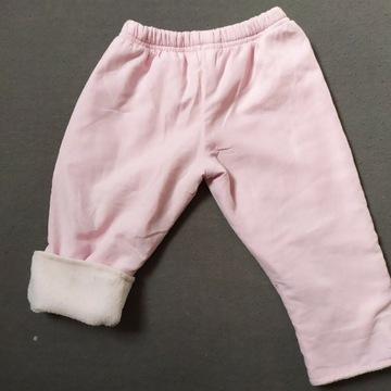 Spodnie ocieplane na zimę dla niemowlaka 62/68
