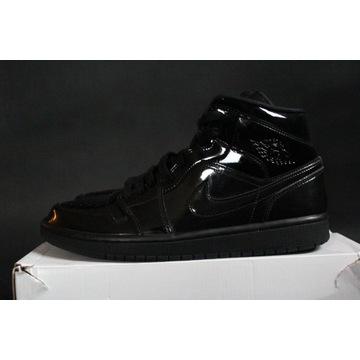 "Air Jordan 1 Mid QS ""Triple Black"" Patent 42"