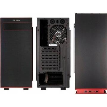 Obudowa IN-WIN 703 USB 3.0 czarno czerwony z oknem