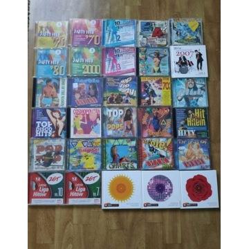 Kolekcja płyt CD muzyka schlagry disco polo filmy