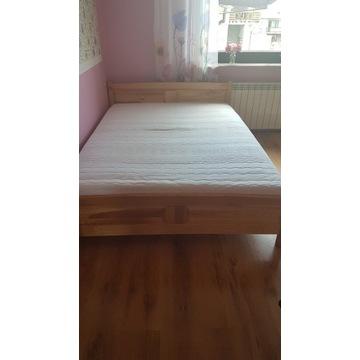 Łóżko drewniane + materac Janpol