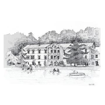 Grafika czarno-biała Nałęczów