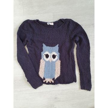 Sweter z sówką r. 146cm