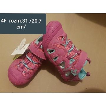 Sandałki dziewczęce 4F  31 (20.7 cm), nowe